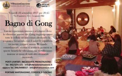 Bagno di Gong 20 ottobre  a Legnano ore 20.45